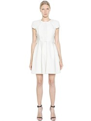 Dice Kayek Pleated Bonded Cotton Dress