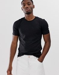 Selected Homme Perfect T Shirt In Black