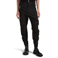 Balmain Cotton Blend Ripstop Cargo Pants Black