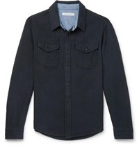Outerknown Organic Cotton Twill Shirt Black