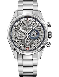 Zenith 03.2081.400 78.M2040 Chronomaster El Primero Full Open Stainless Steel Watch Silver
