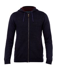 Ted Baker Men's Rider Knitted Hoodie Navy
