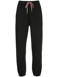 Burberry Embroidered Logo Track Trousers Black