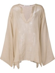 Denis Colomb 'Sayan' Striped Tunic Nude Neutrals