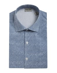 Kenneth Cole Reaction Slim Fit Printed Dress Shirt Steel Blue
