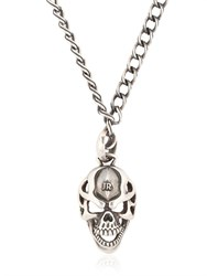 John Richmond Skull Pendant On Chain Necklace