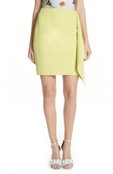 Ted Baker 'S London Asymmetrical Frill Pencil Skirt Lime