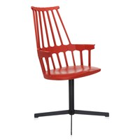Kartell Comback Swivel Chair Orangy Red