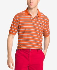 Izod Men's Striped Polo Camellia
