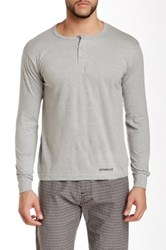 Bottoms Out Basic Henley Tee Gray