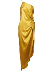 Michelle Mason Twist Knot Gown Gold