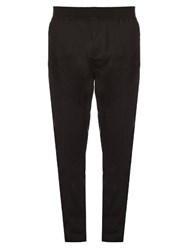 Givenchy Mesh Overlay Wool Blend Track Pants Black