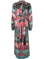 F.R.S For Restless Sleepers Paradise Silk Maxi Dress Green