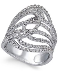 Macy's Diamond Interlocking Swirl Ring 1 1 4 Ct. T.W. In 14K White Gold