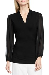 Vince Camuto Women's Chiffon Sleeve V Neck Top