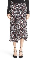 Veronica Beard Women's Madison Floral Print Silk Midi Skirt