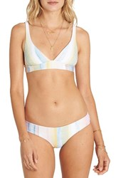 Billabong Women's Desert Dream Triangle Bikini Top White Multi