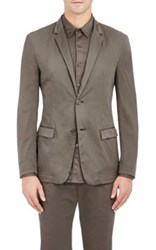 Theory Men's Simons Gd Two Button Sportcoat Dark Green