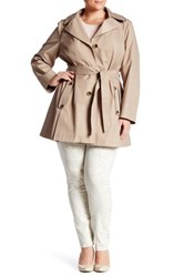 Via Spiga Scarpa Hooded Raincoat Plus Size Beige