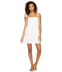 Juicy Couture Venice Beach Microterry Rouched Ties Dress White Women's Dress