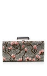 Judith Leiber Couture Blossoms Soft Sided Clutch Silver
