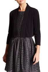 Modern American Designer 3 4 Length Sleeve Shrug Black