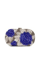 Santi Floral Beaded Clutch Purple