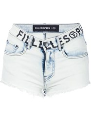 Filles A Papa Cruz Mini Shorts Blue