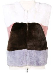 N.Peal Reversible Cashmere Gilet White