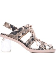 Simone Rocha Clear Faceted Heel Sandals Pink And Purple