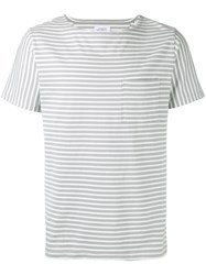 Saturdays Surf Nyc Striped T Shirt Blue