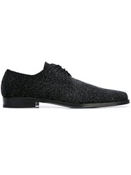 Cesare Paciotti Pointed Derby Shoes Black