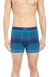 Saxx Vibe Stretch Boxer Briefs Blue Binding Stripe