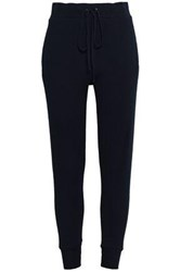 Enza Costa Woman Cotton And Cashmere Blend Track Pants Midnight Blue