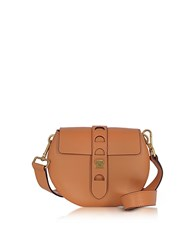 Coccinelle Carousel Mini Cuoio Leather Crossbody Bag Brown