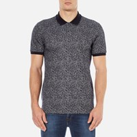 Hugo Men's Dinello Jacquard Polo Shirt Navy