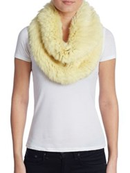 Yves Salomon Rabbit Fur Snood Yellow