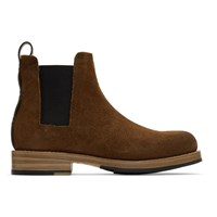 Feit Brown Suede Rubber Chelsea Boots