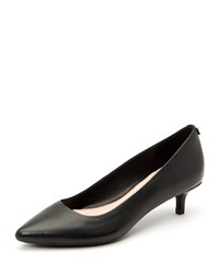 Taryn Rose Naomi Leather Kitten Heel Pumps Black