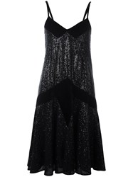 Pascal Millet Sequin Embellished Party Dress Black