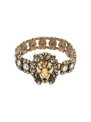 Gucci Lion Head Bracelet With Crystals 8062