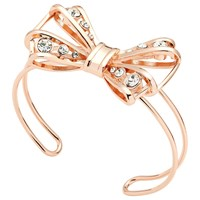 Ted Baker Josz Crystal Bow Cuff Rose Gold
