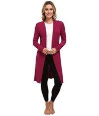 P.J. Salvage Essential Luxe Rib Cardig Robe Berry Women's Robe Burgundy