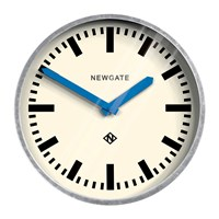 Newgate The Luggage Galvanised Wall Clock Blue Hands