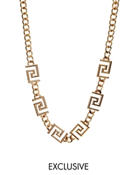 Reclaimed Vintage 90'S Geometric Necklace Gold