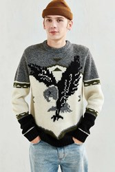 Woolrich Outdoor Eagle Motif Sweater Ivory
