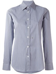 Dsquared2 Checked Pattern Shirt Blue