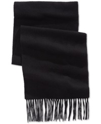 Club Room Solid Cashmere Scarf Only At Macy's Black