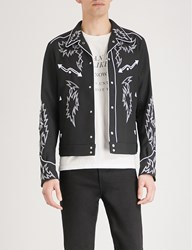 The Soloist Arrows Embroidered Twill Jacket Black