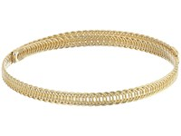 Kenneth Jay Lane Polished Gold Braided Wrap Around Dog Collar Necklace Gold Necklace